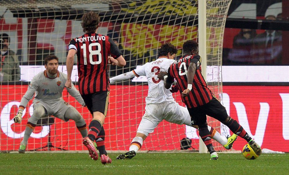 Milan - Roma: 2- 2, la Juve resta a +5