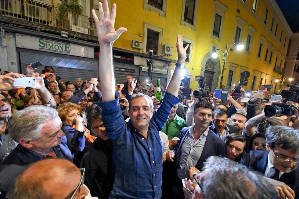 Naples' Mayor Luigi de Magistris