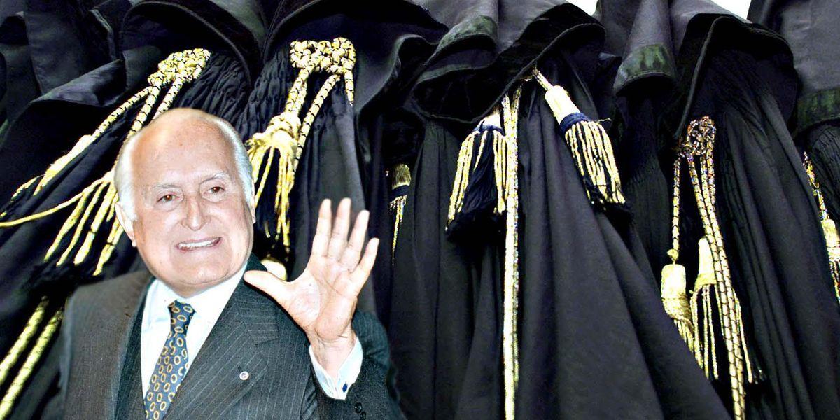 Oscar Luigi Scalfaro, presidente della Repubblica