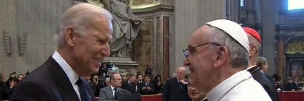 papa francesco biden