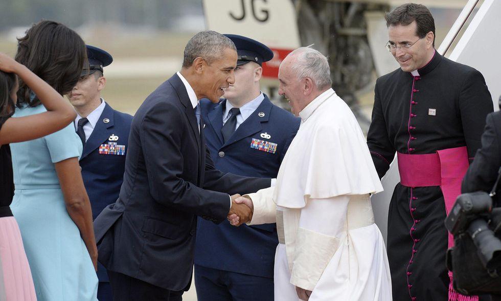 Papa Francesco con Barack Obama