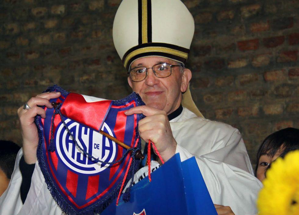 San Lorenzo, la squadra del Papa in campo a San Siro