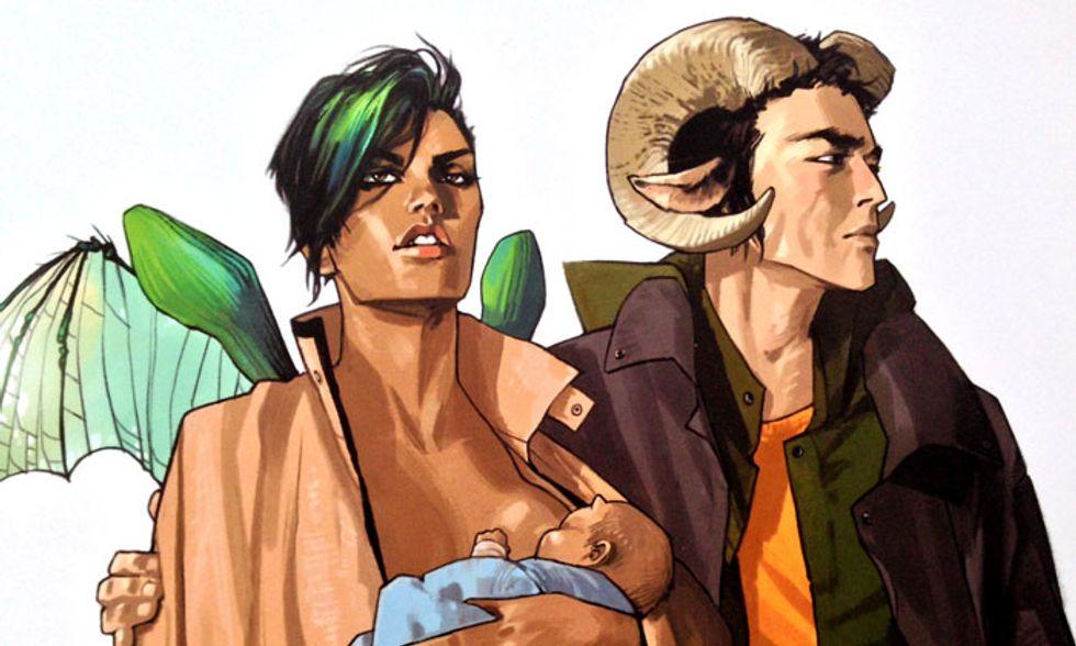 Fumetti: 'Saga': fate l'amore, non fate la guerra