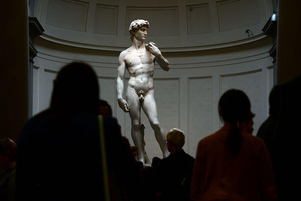 Hero, a contemporary version of Michelangelo's David