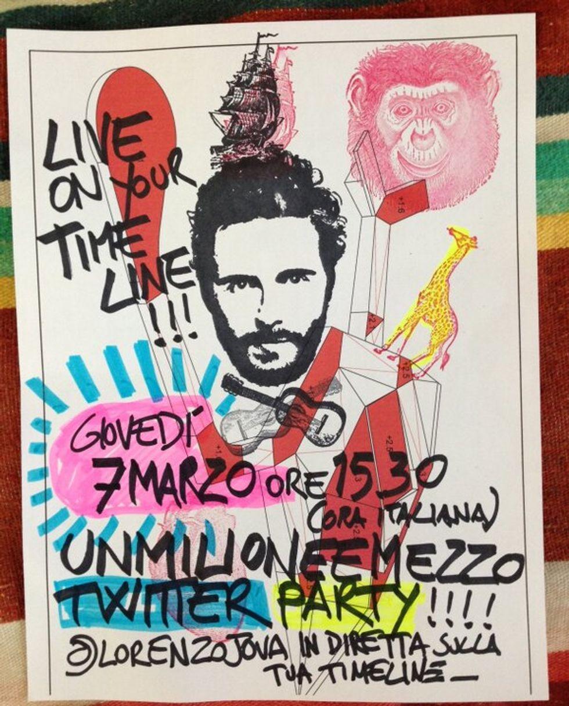 Jovanotti festeggia il milione e mezzo di followers su Twitter