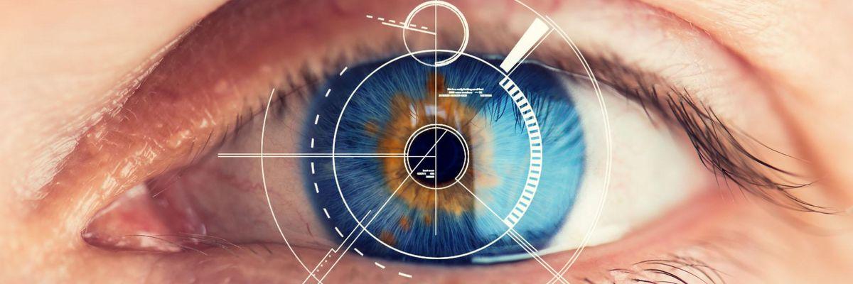 retina liquida occhio vista