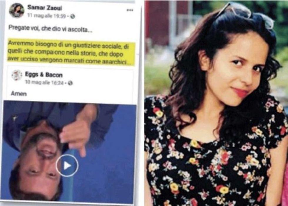 Samar Zaoui post facebook anti Salvini