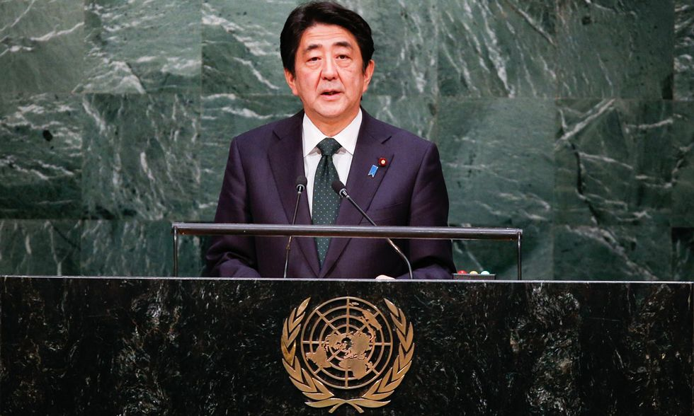 Shinzo Abe all'ONU