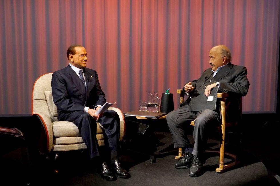 Silvio Berlusconi e Maurizio Costanzo L'intervista Canale 5