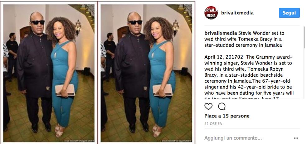 Stevie Wonder e la promessa sposa Tomeeka Robyn Bracy