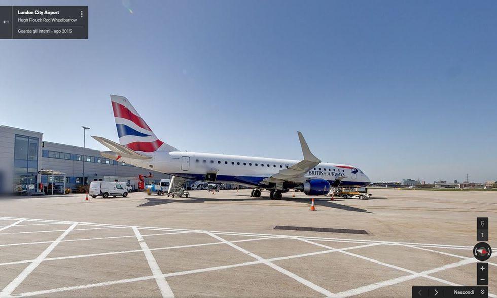 Street View su un volo British Airways