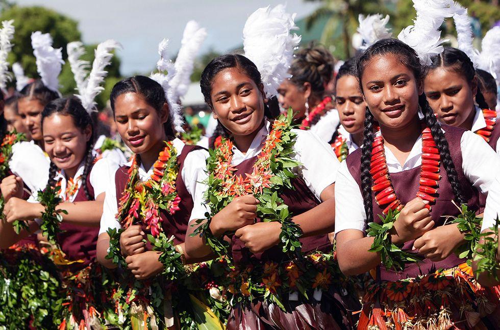 Studentesse della Repubblica di Tonga