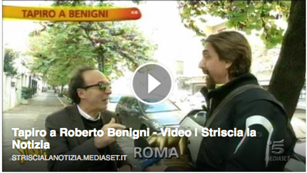 Tapio d'oro a Roberto Benigni
