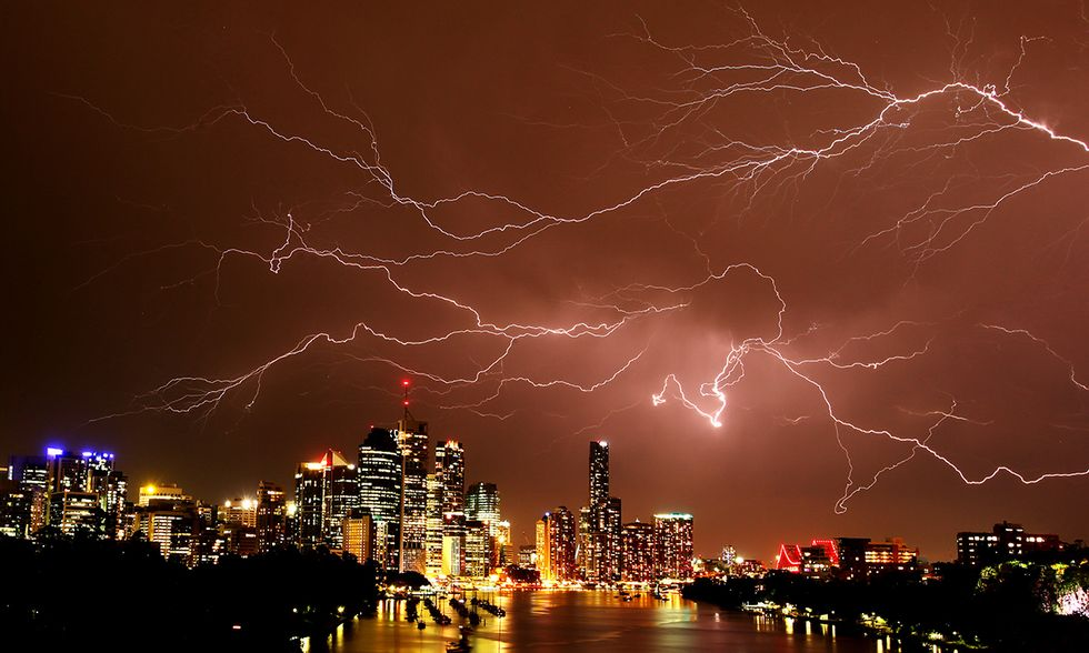 Tempesta di fulmini sull'Australia