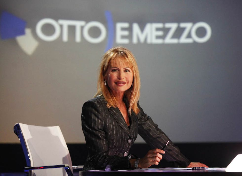 TV: LA7; 'OTTO E MEZZO' CON LILLI GRUBER