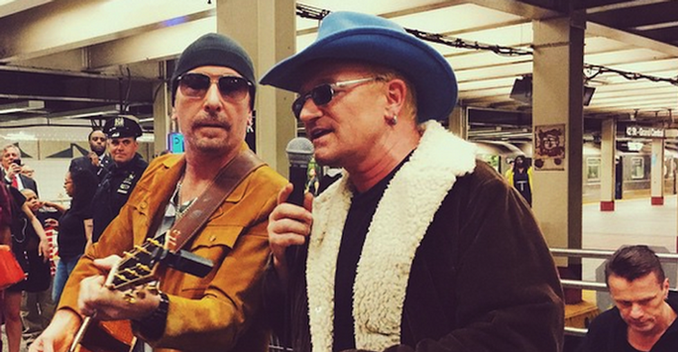 U2: live a sorpresa nella metro di New York