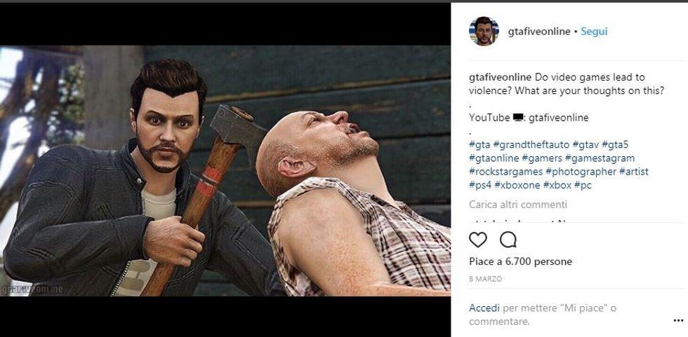Un'immagine tratta dal videogioco Grand Theft Auto V