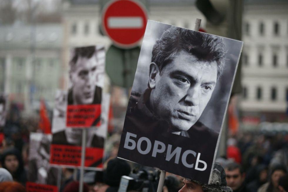 Boris Nemtsov: la manifestazione a Mosca - Le foto