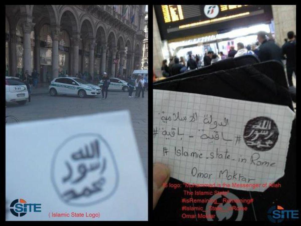 Isis, cartoline con minacce all'Italia