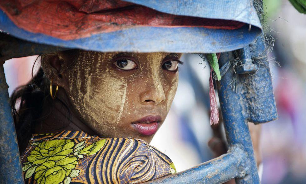 Una giovane Rohingya