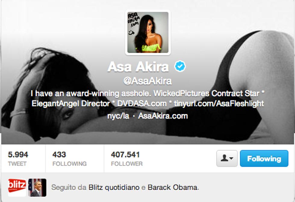 """Barack Obama è """"follower"""" di tre pornostar su Twitter"""