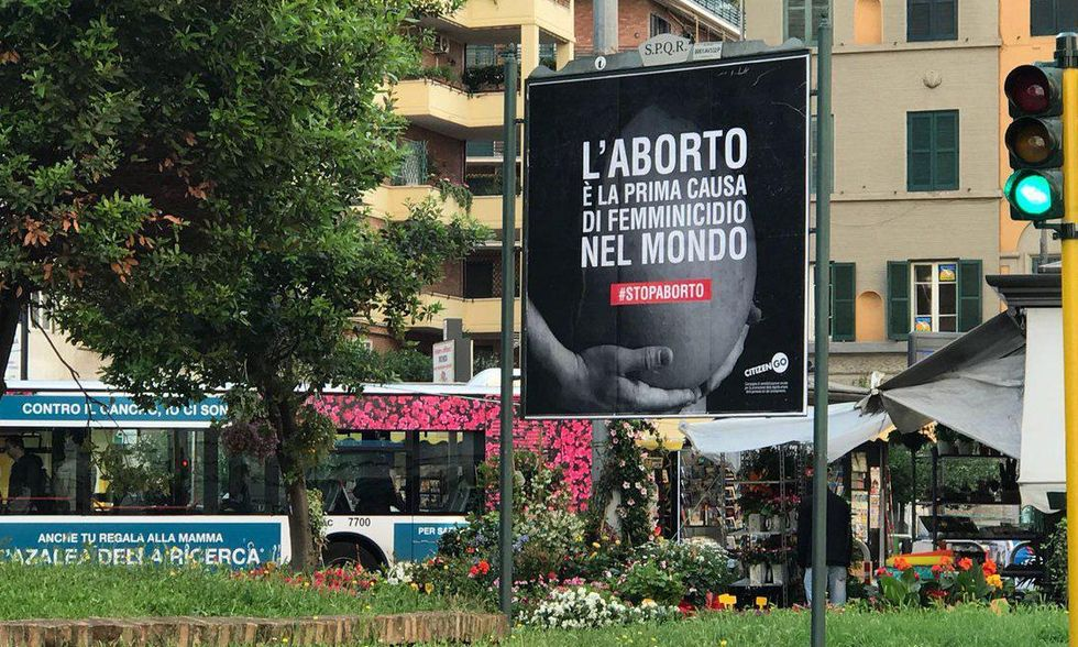 manifesto anti-aborto