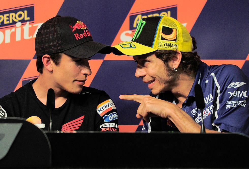 Marquez e Rossi, campioni a confronto