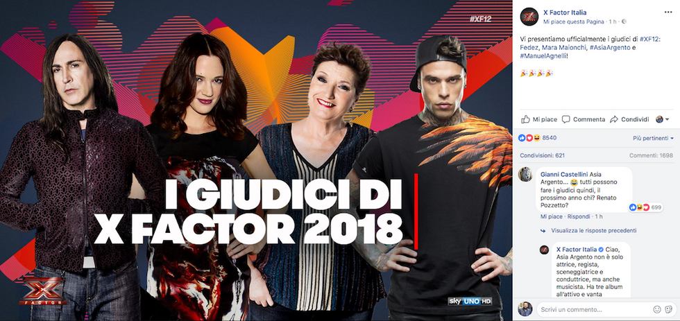X Factor 2018 giuria